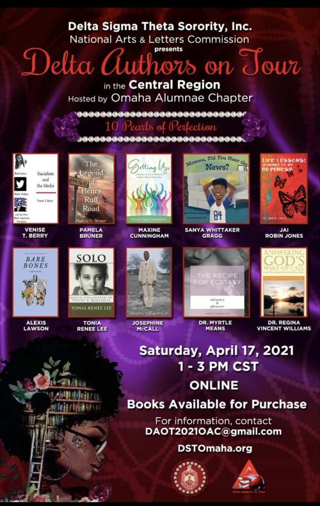 Flyer showing all the authors and the date of the event: April 17, 2021 at 1pm